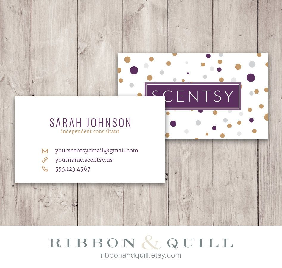 Scentsy Dots Business Card - Custom PDF, Printable, Template ...