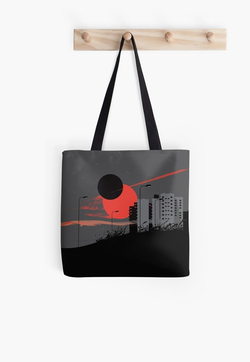 c2b4026605b9 Buy  apocalypse  Tote Bag epic planetary apocalyptic clash of eclipsing Sun  and Moon over