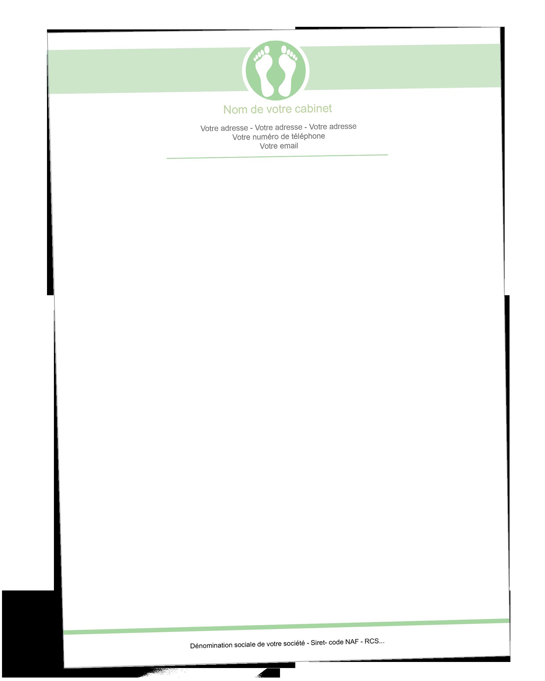 Papier A En Tete Podologue Reflexologie Plantaire Pie Chart Chart