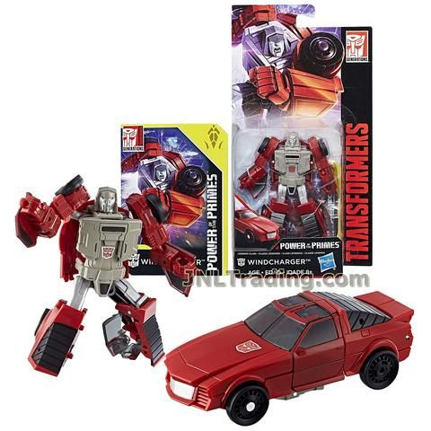 WINDCHARGER with Collector Card Vehicle: Sports Car Transformers Year 2017 Generations Power of the Primes Series Legends Class 4 Inch Tall Figure Hasbro