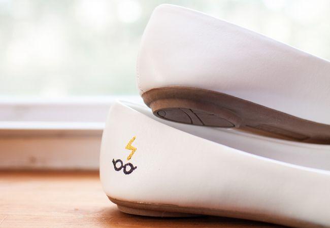 Harry Potter Inspired Wedding Shoes | Mon Petit Studio | blog.theknot.com