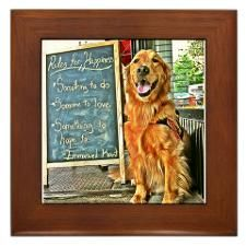 Tuesday & Happiness Framed Tile