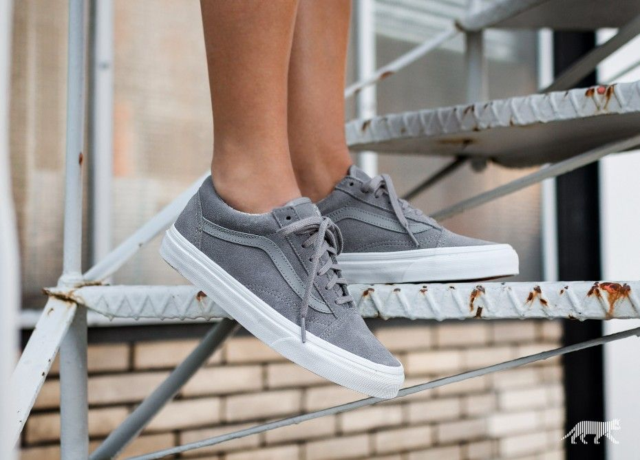 Vans Old Skool *Suede Woven* (Gray / True White)