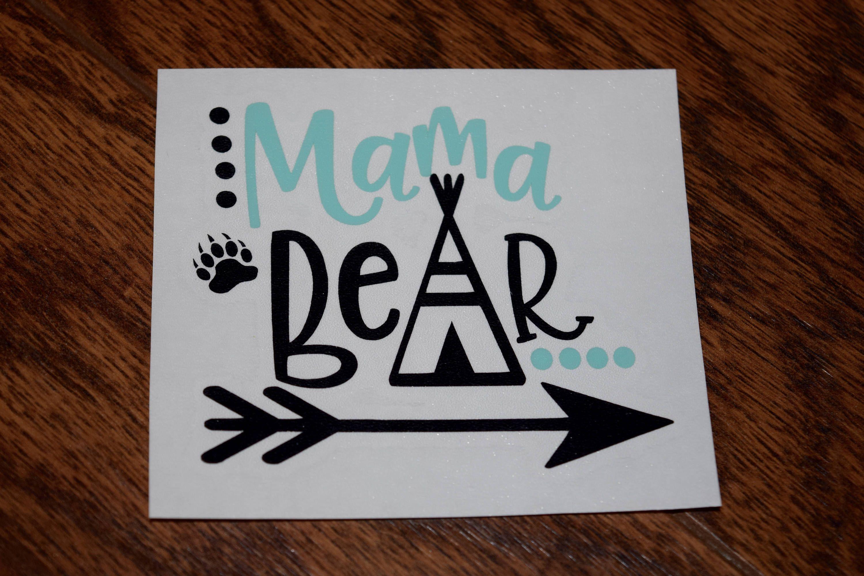 Mama Bear Decal Mama Bear Sticker Mama Bear Bear Decal Family Car Decal Decal For Women Mom Decal Mama Bear Family Car Decals Mama Bear Decal Bear Decal [ 1999 x 3000 Pixel ]