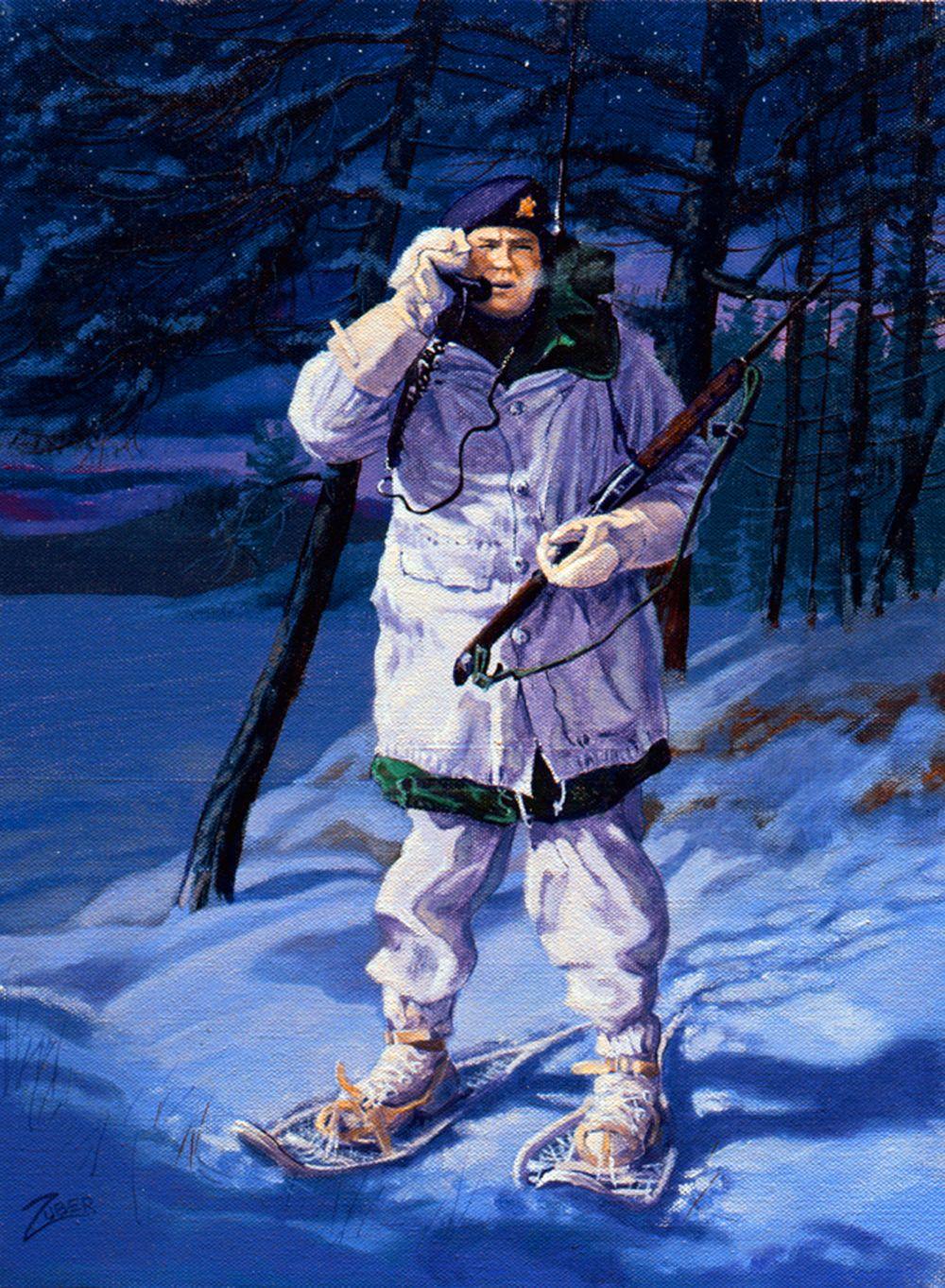 Night Talker, Korean War Korean war, Army drawing, War art