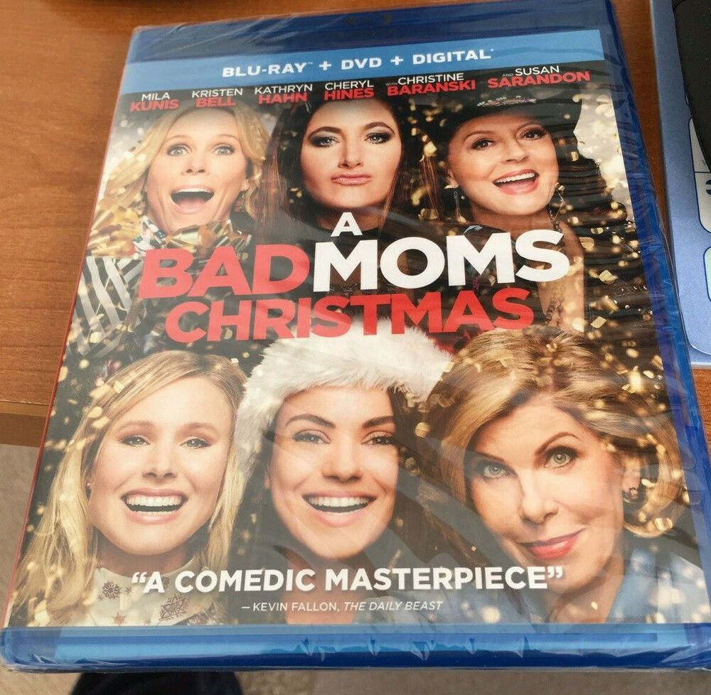 A Bad Moms Christmas Movie Poster.A Bad Moms Christmas Blu Ray Dvd 2018 Includes Digital