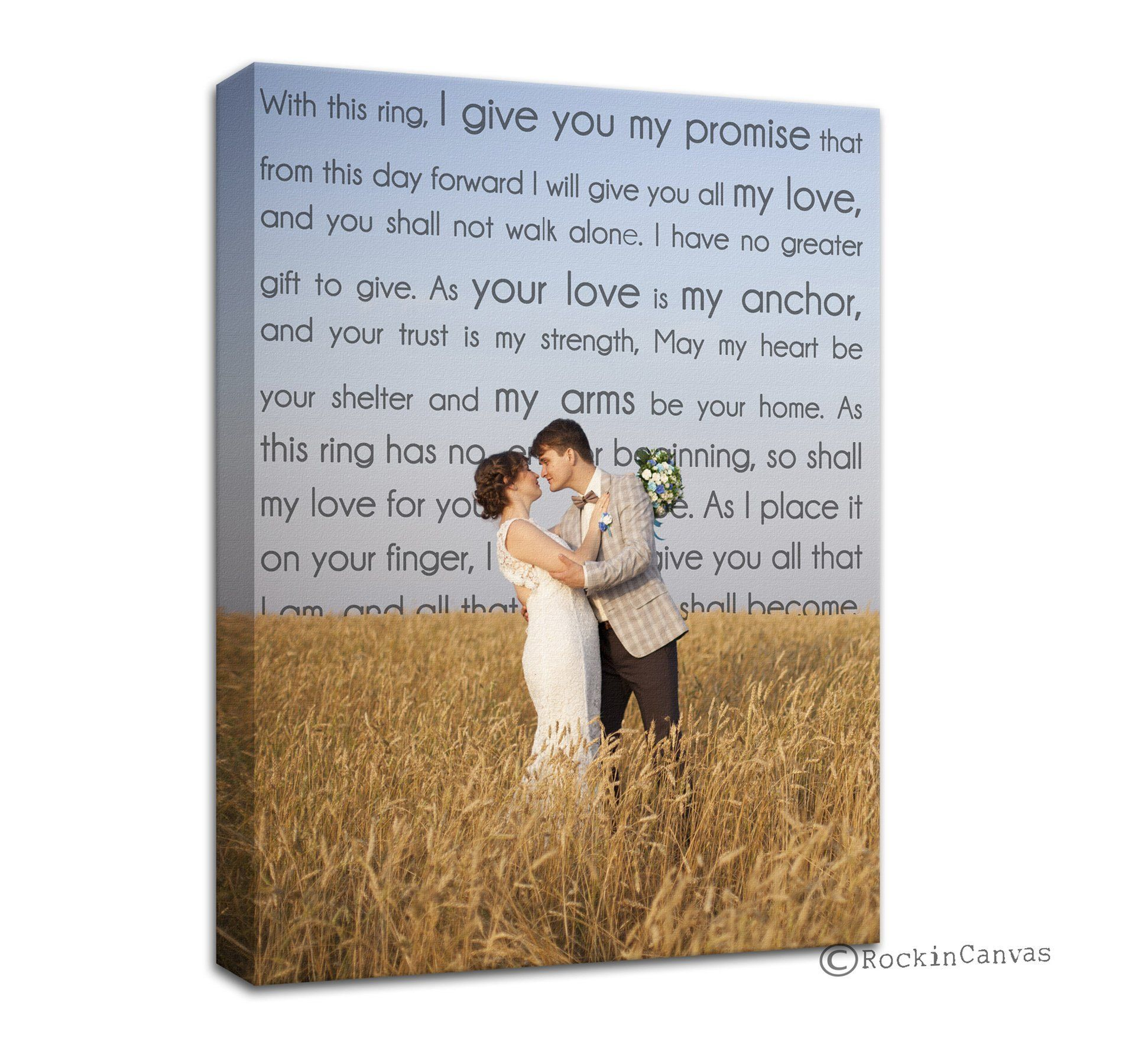 Photo Canvas Personalized With Words First Dance Wedding