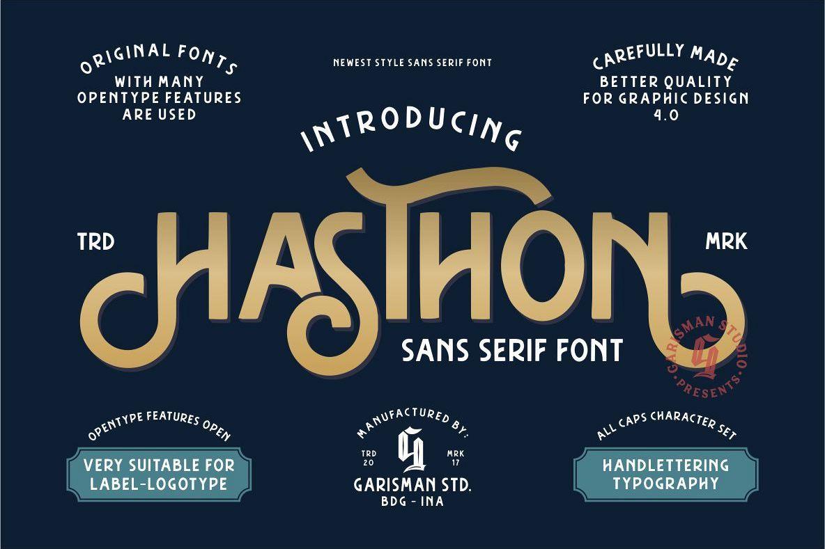 Hasthon Vintage Fonts 232953 Display Font Bundles Vintage Fonts Free Fonts Download Serif Fonts