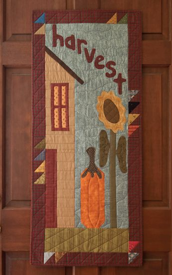 Fun autumn quilt for the front door - from the book Folk-Art Favorites