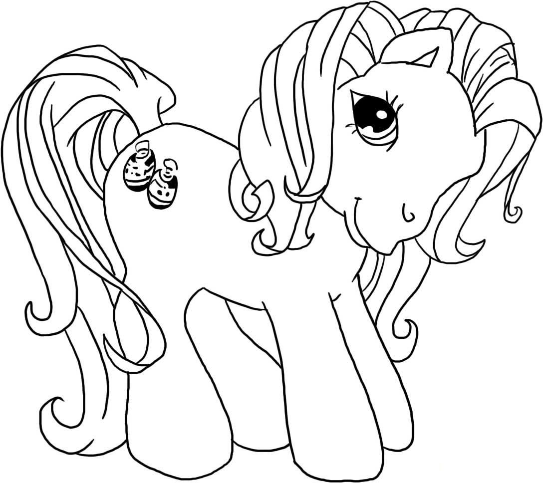 Vintage my little pony coloring pages -