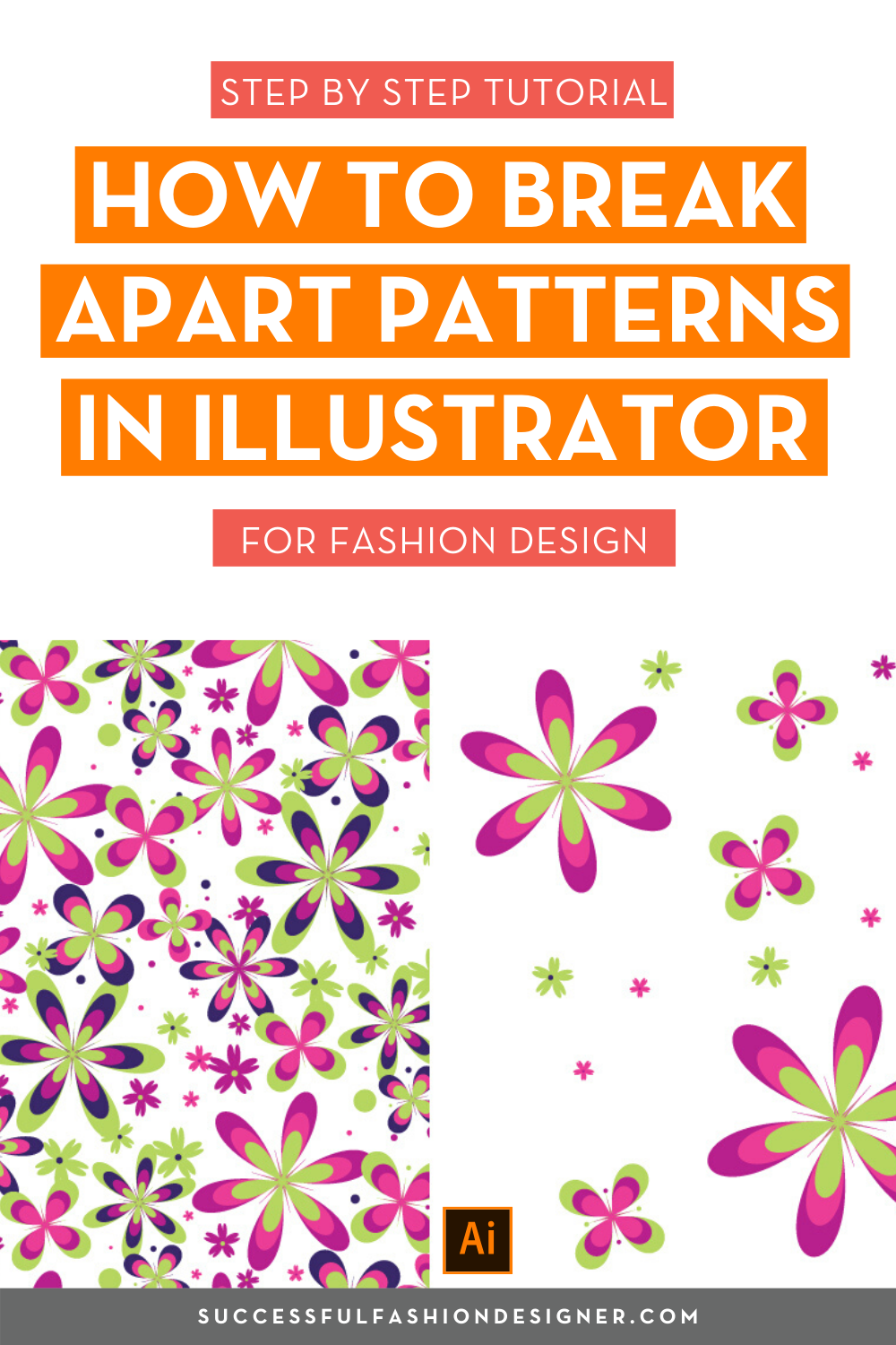How To Break Apart Patterns In Illustrator In 2020 Tutorial
