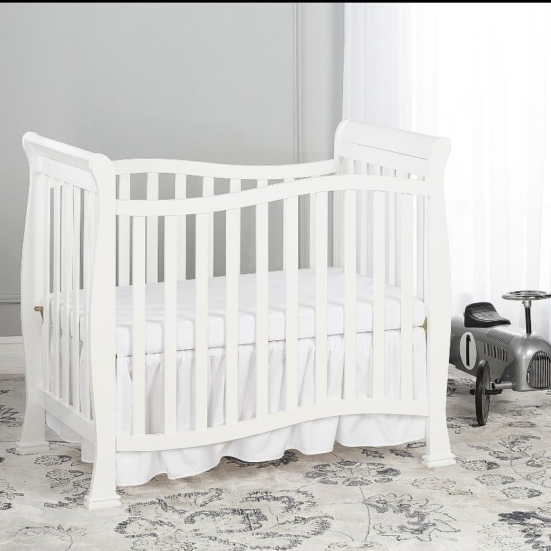 Classic White 4 In 1 Convertible Mini Crib Piper Cribs Mini Crib Baby Bed White 4 in 1 cribs