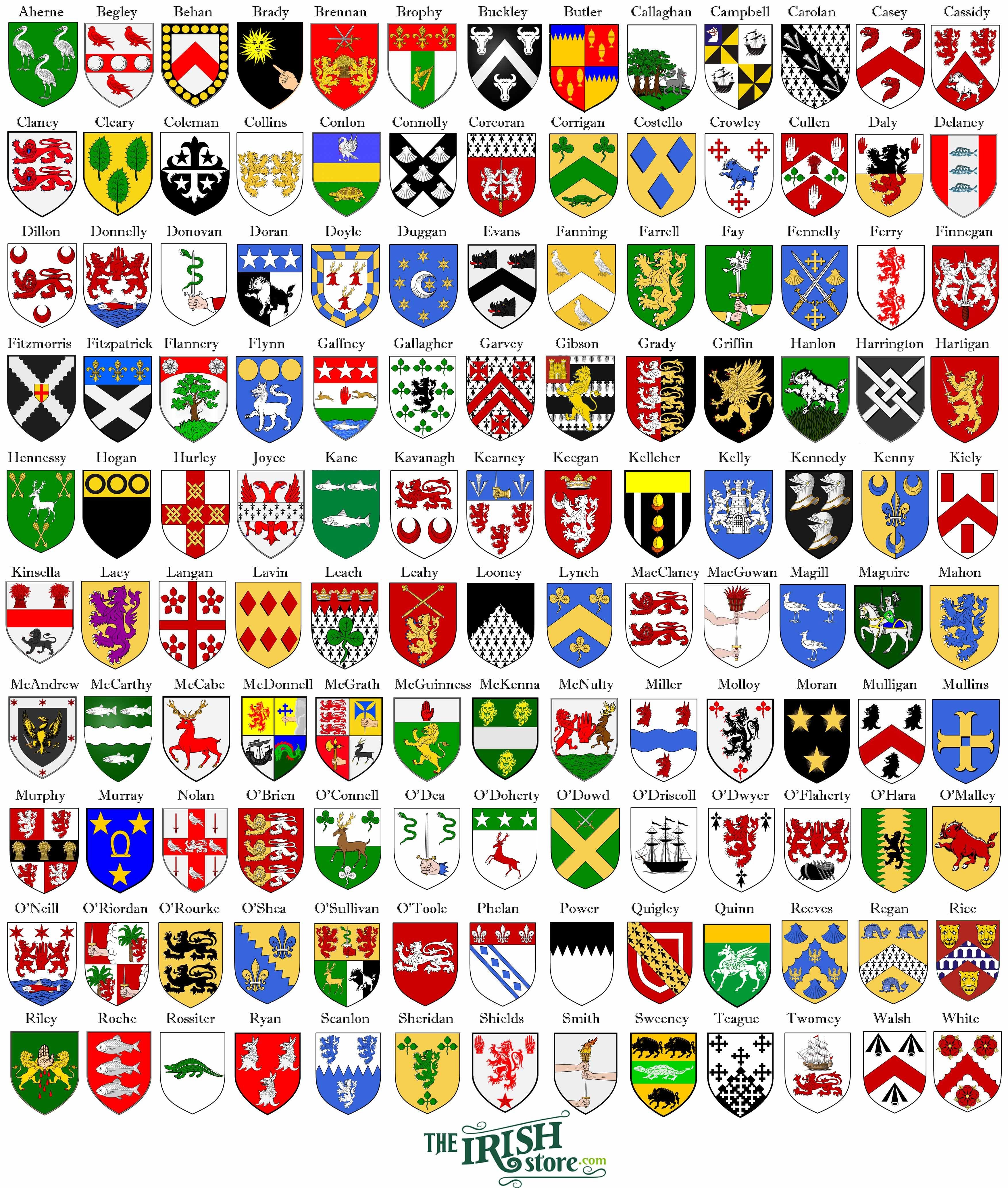 Find your irish coat of arms find the perfect irish gift