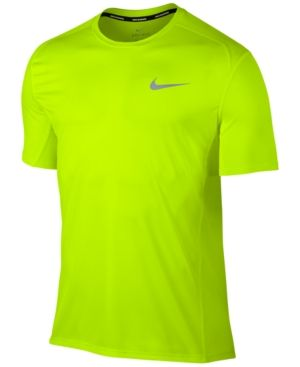 Nike Men's Dry Miler Running T Shirt Yellow 2XL | Products
