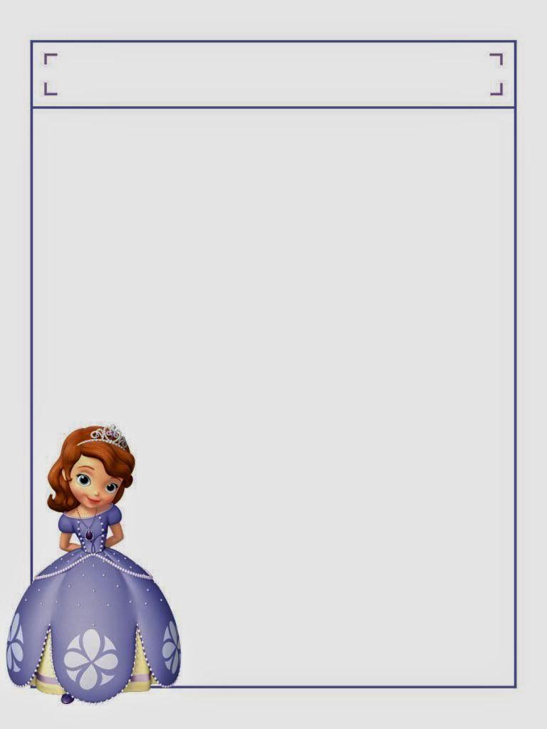 Cuaderno de Princesa Sofía para Imprimir Gratis. | Ideas y ...