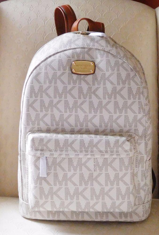 new michael kors jet set item large backpack vanilla signature pvc rh pinterest com