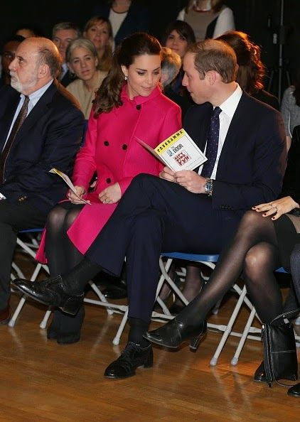 Royal Family Around the World: The Duke And Duchess Of Cambridge Visit The Door on December 9, 2014 in New York City.