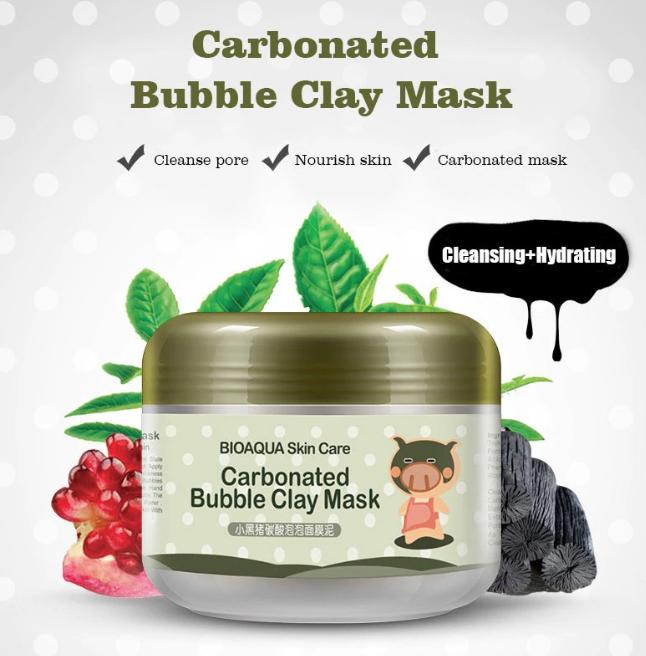 Original Bioaqua Milky Piggy Skin Care Carbonated Bubble Clay Mask Carbonated Bubble Clay Mask Skin Care Moisturizer Oil Control Products