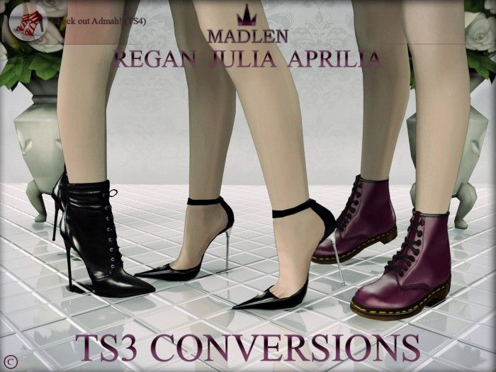 Madlen's Regan, Julia and Aprilia shoes TS4 to TS3 conversions • Sims 3  Downloads CC