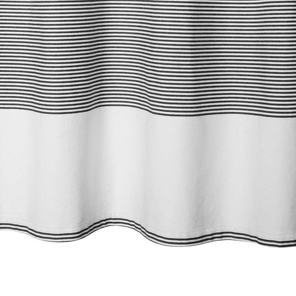 Buy Calvin Klein Donald Shower Curtain White Black 183x183cm