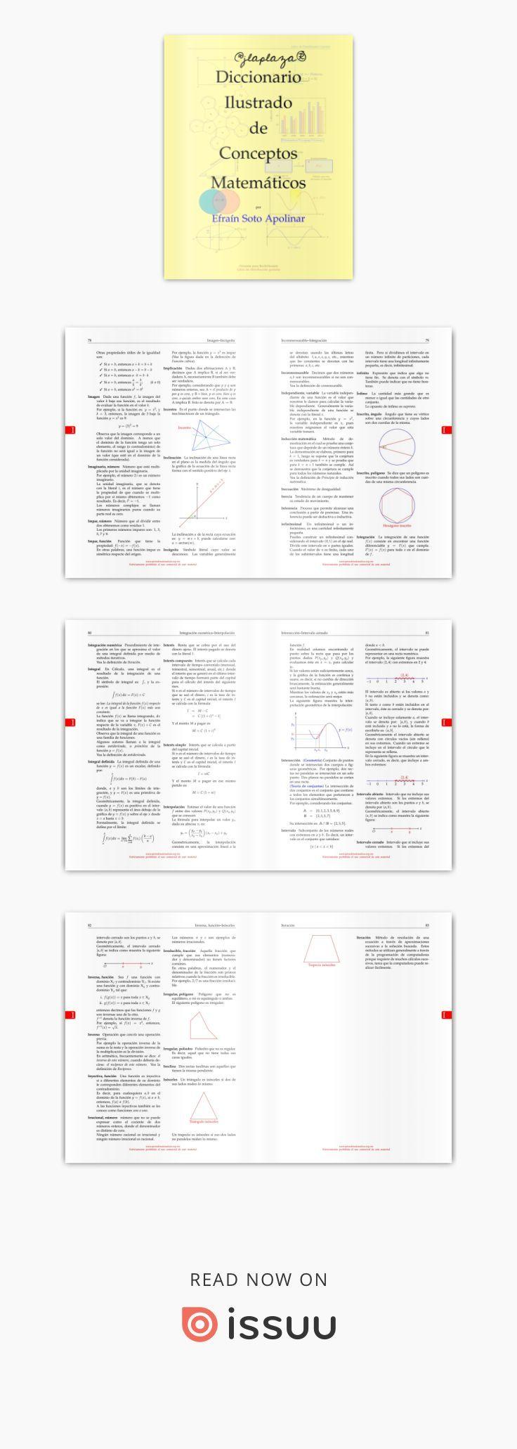 Diccionario Ilustrado De Conceptos Matematicos Diccionario