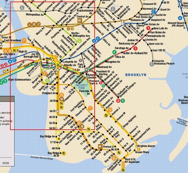Nyc Subway Map Brooklyn