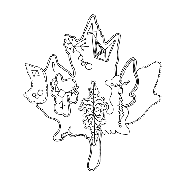 Canadian Maple Leaf Colouring Page by Donald Lee | Canadian Maple ...