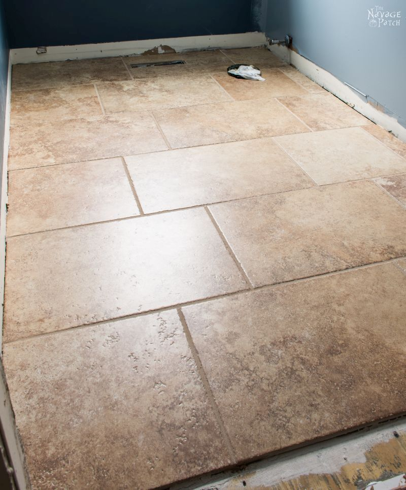 Guest Bathroom Renovation How To Lay Tile Guest Bathroom