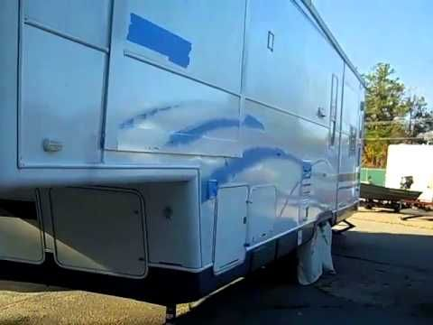 Rustoleum 50 Rv Roller Paint Job Youtube The Dutchmen