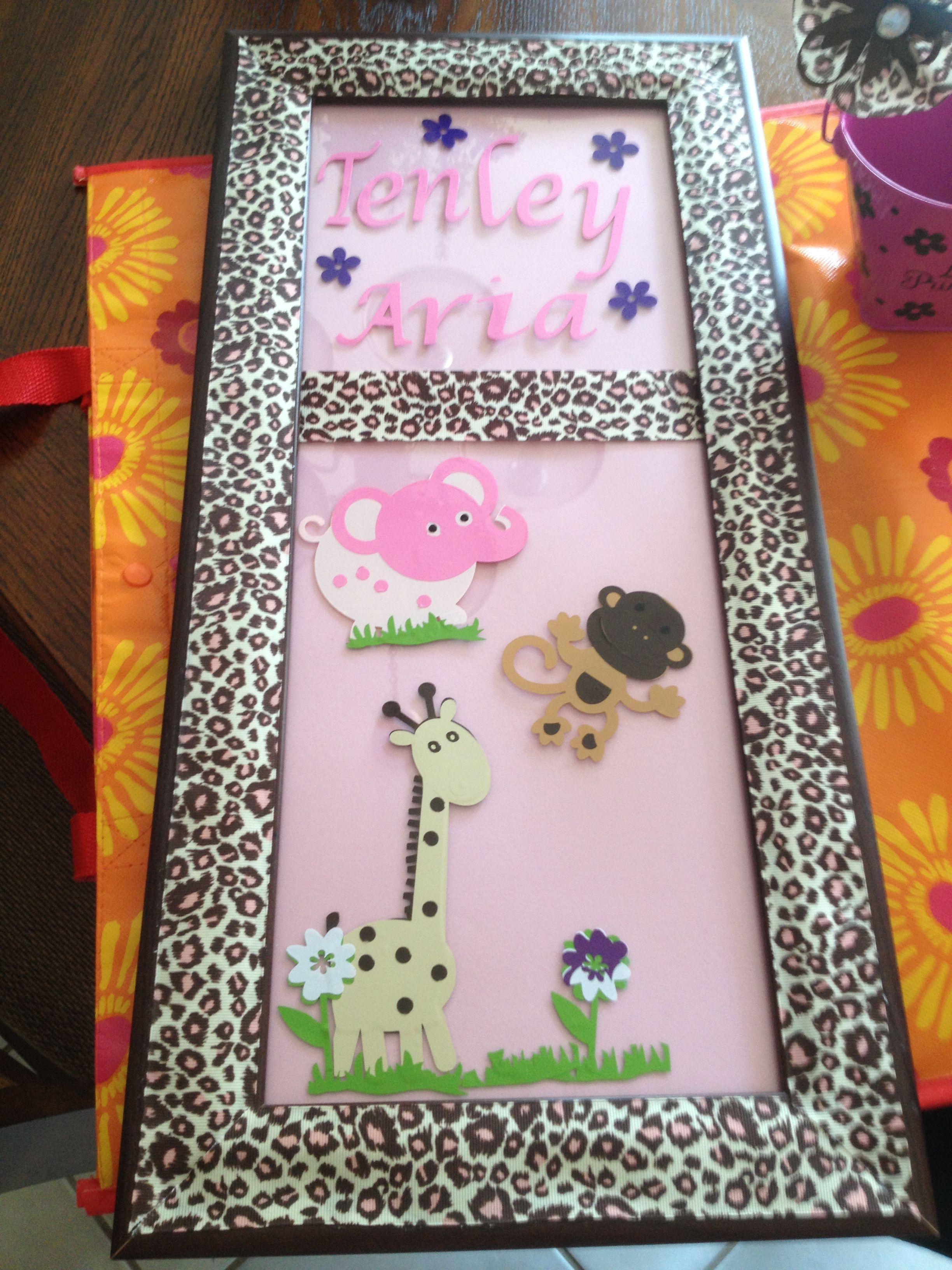 Baby Girl Gift Name Frame With Cricut Vinyl Items I