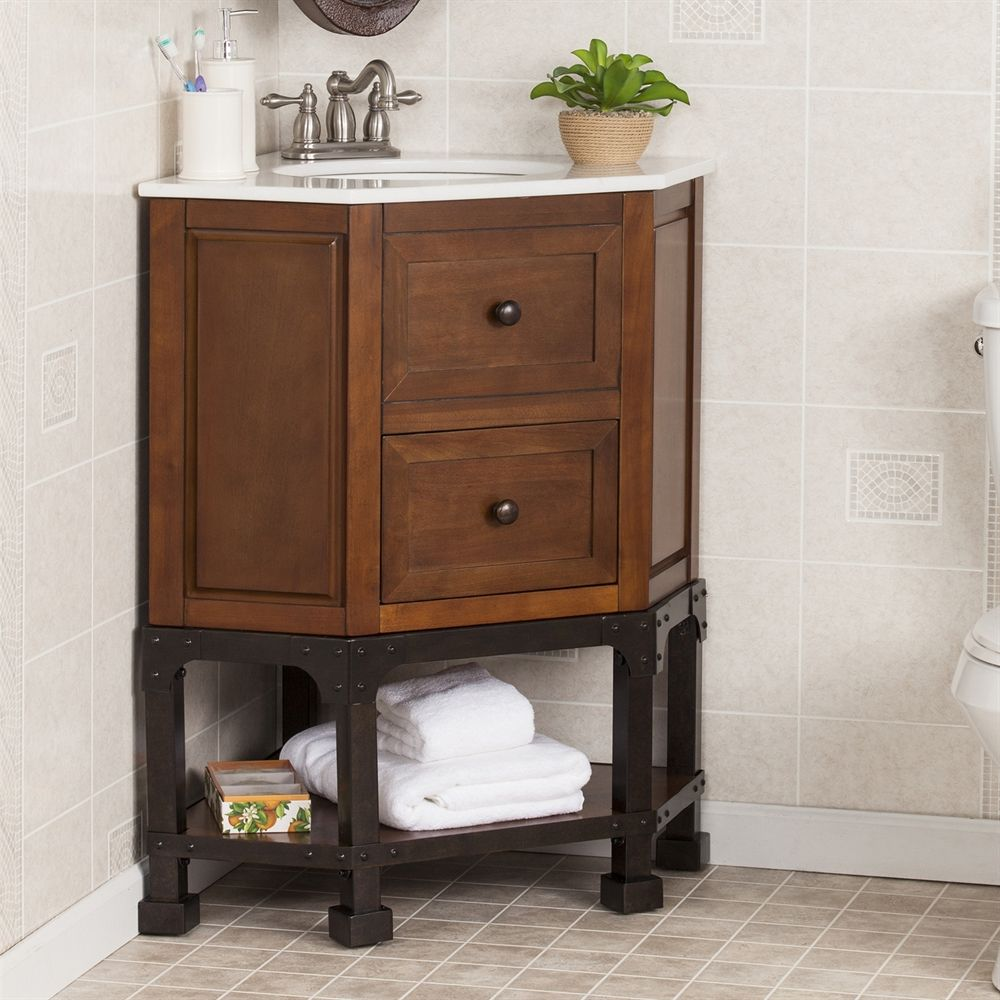 Shop Boston Loft Furnishings Canyon Corner Single Vanity Sink with