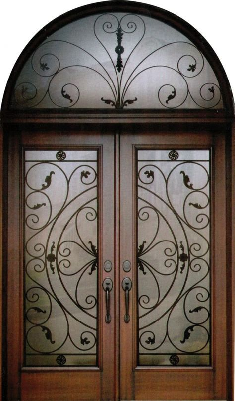Exquisite Front Entry Doors At Home Depot Fiberglass: An Exquisite And Stylish Decorative Wrought Iron Front