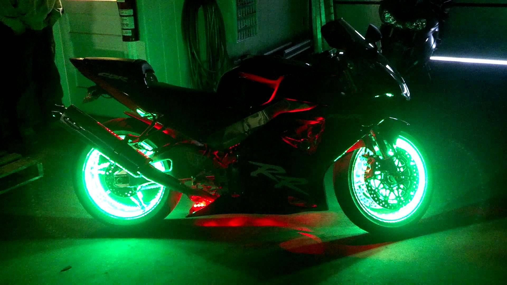 Motorcycle Wheel Light Kit Youtube Motorcycle Wheels Led Kit Motorcycle