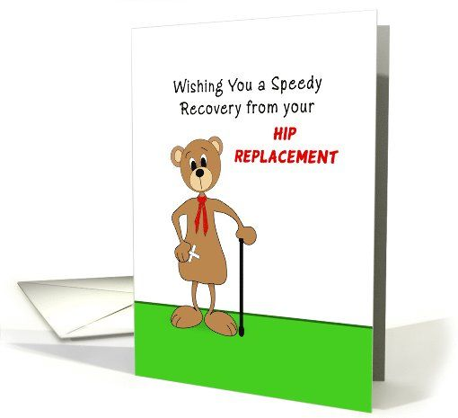 Hip Replacement Get Well Greeting Card Bear Bandaid On 1032355 Feel Better Cards Get Well Cards