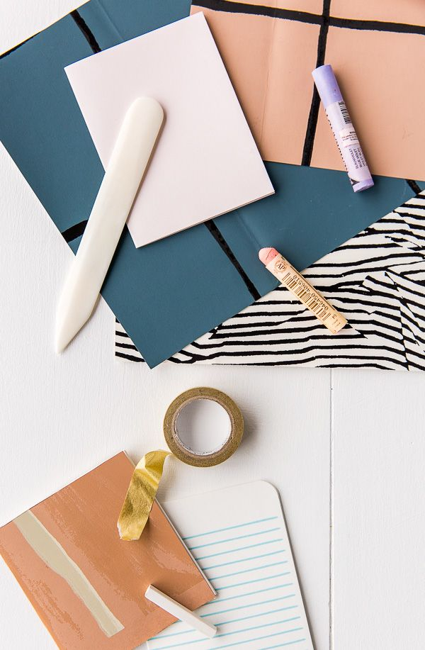 DIY notebooks are great beginner projects. This one involves minimal wallpaper samples for a unique look.