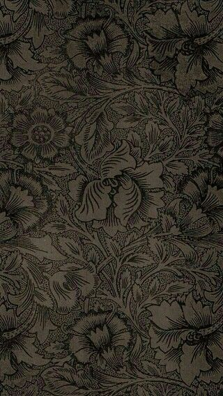 Floral Damask Phone Wallpaper