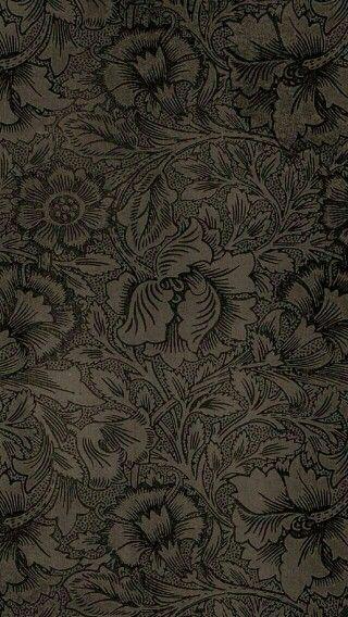 Floral damask phone wallpaper fantasie pinterest for Schwarze mustertapete