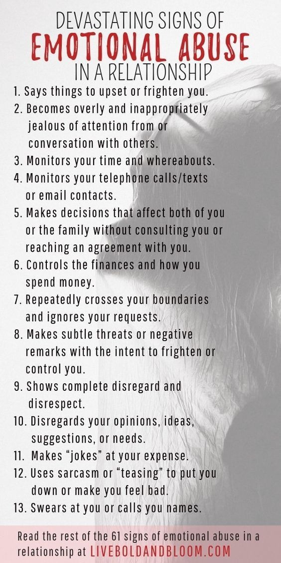61 Devastating Signs Of Emotional Abuse In A Relationship