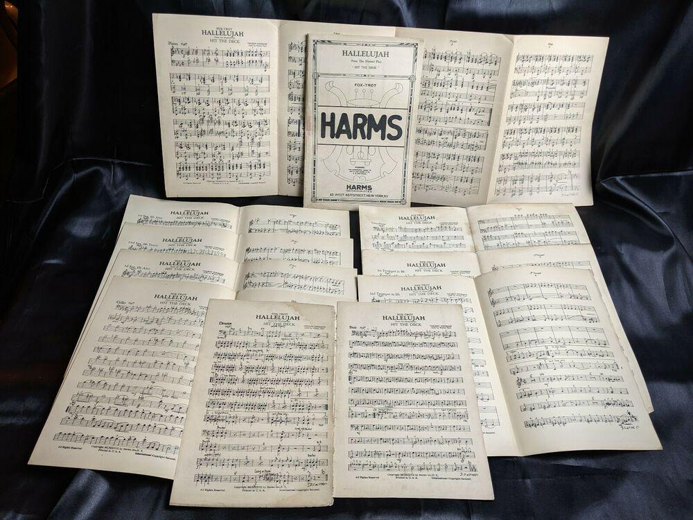Details about hallelujah fox trothit the deckorchestra