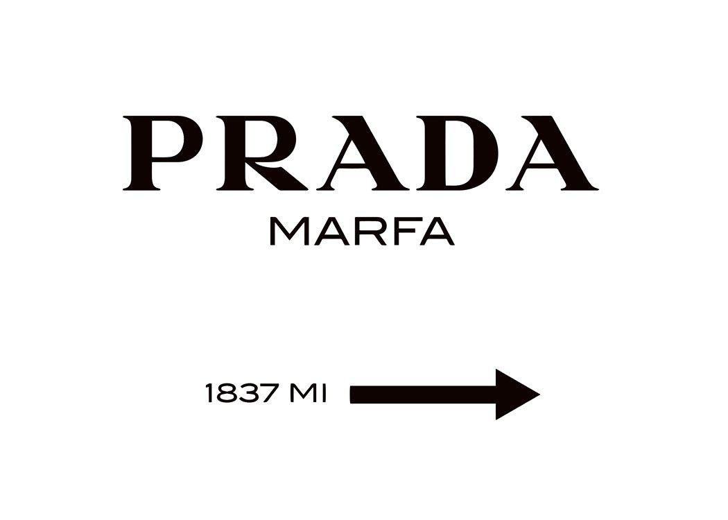 Beliebtes Poster mit Prada Marfa-Schild, ohne Rahmen. | Bilder ...