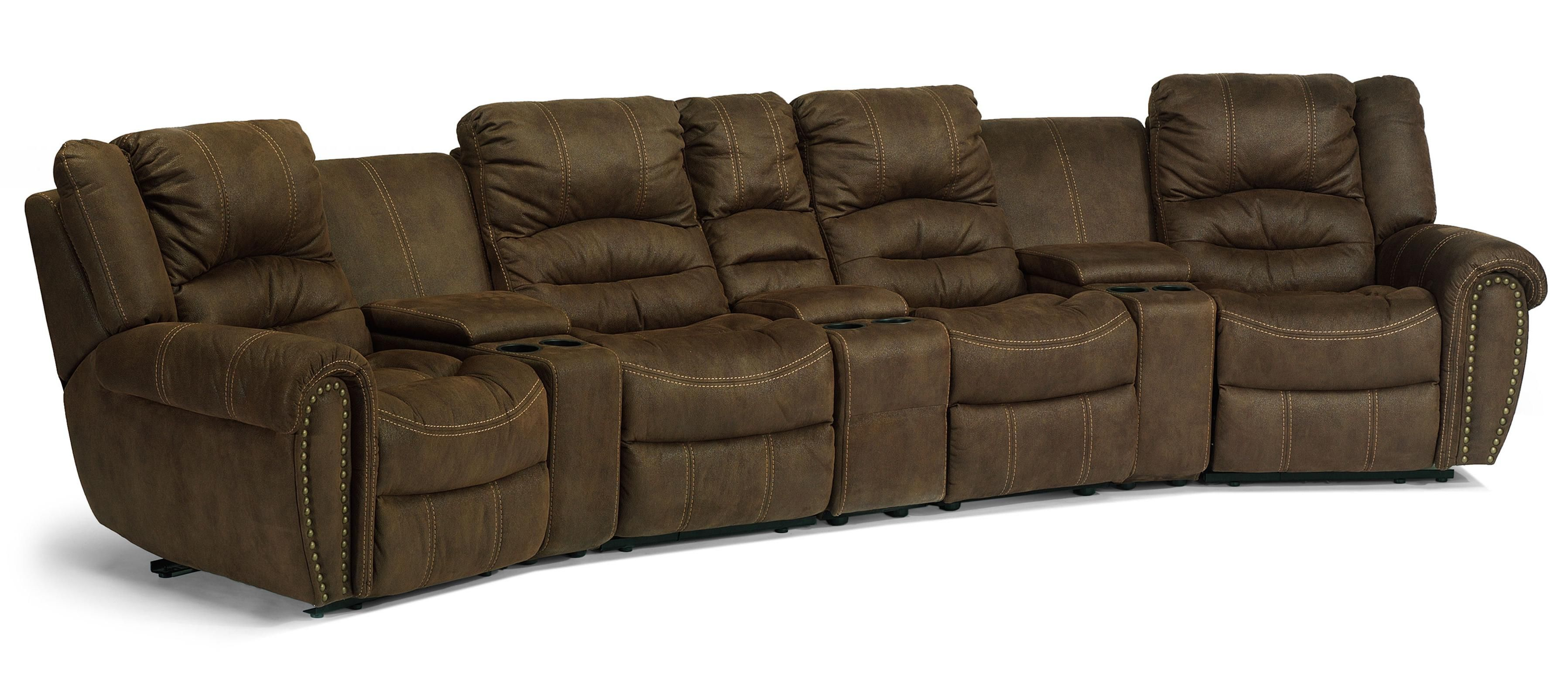 Latitudes New Town Reclining Sectional Sofa By Flexsteel