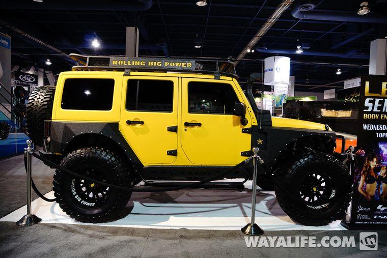 2013 SEMA RBP Yellow Jeep JK Wrangler 4-Door