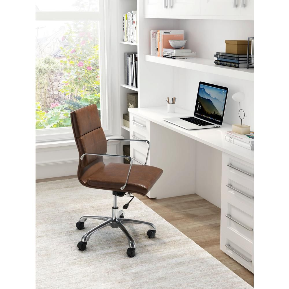 Zuo Ithaca Vintage Brown Office Chair 100770 With Images Home