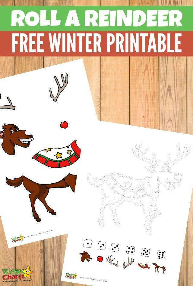 Roll a reindeer free printable game Gaming, Free and Free printable