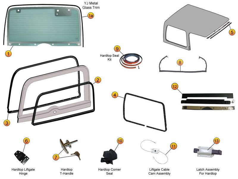 interactive diagram jeep hard top liftgate seals replacement parts morris 4x4 center