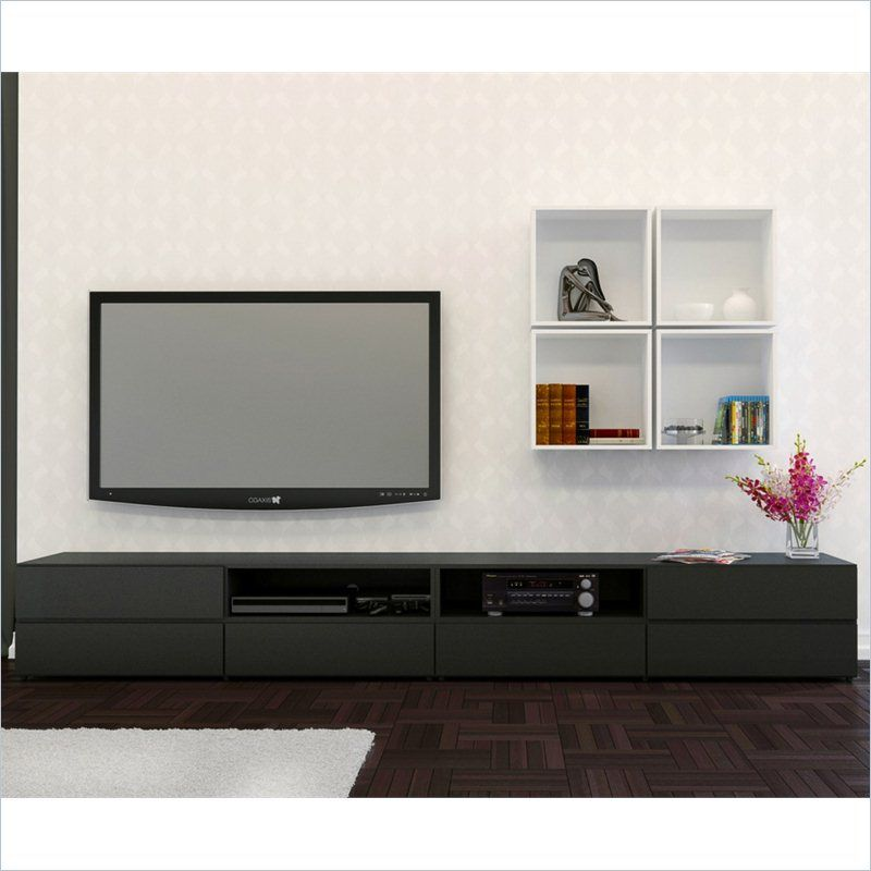 Avenue 60 Tv Stand With Decorative Wall Cubes 400520 Lowest