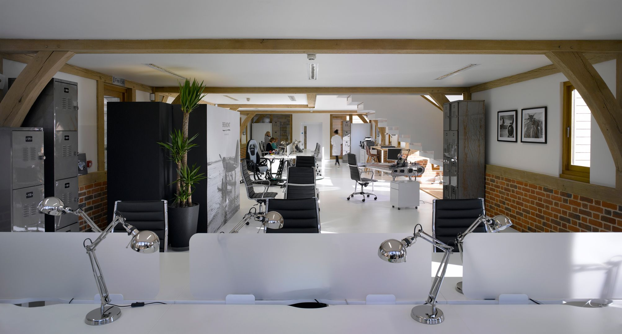 Contemporary office space. Architect - Spratley Studios Photograph by Nick Kane