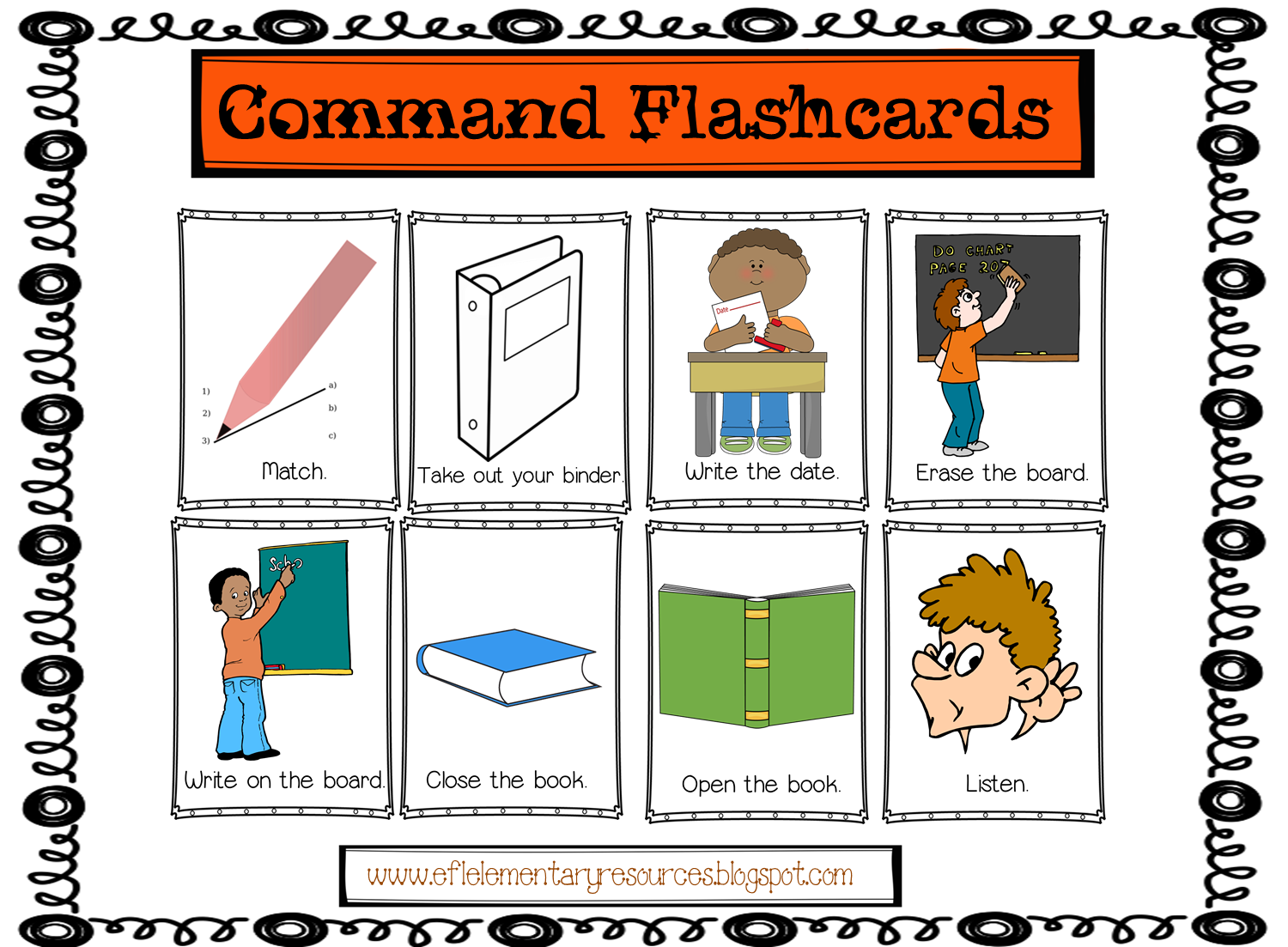 Classroom Commands With Images
