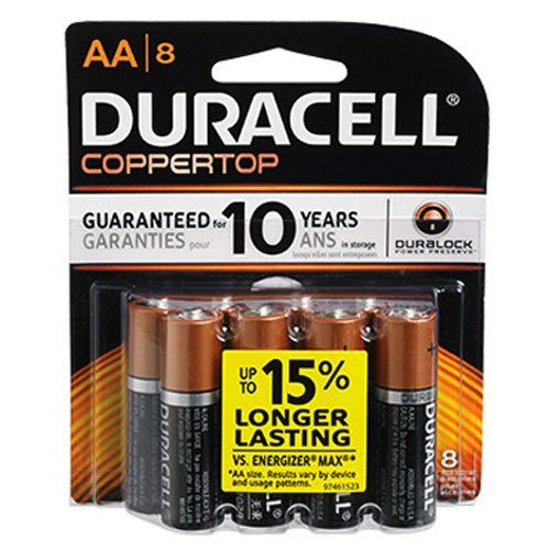Duracell Coppertop Aa Battery 1 5 Volt 8 Ct Duracell Charger Accessories Amazon Electronics