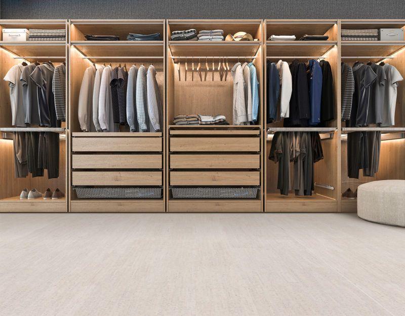 Off White Cork Flooring 12mm Bleached Birch Forna Closet Renovation Closet Design Layout Closet Design
